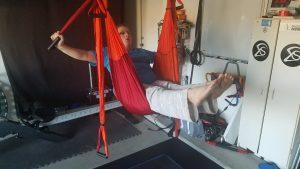 Yoga trapeze client use