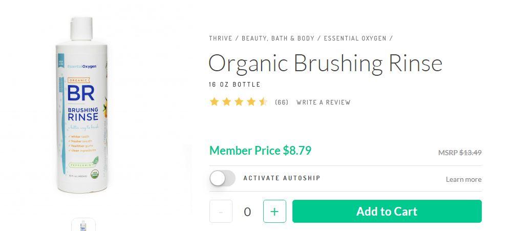 Thrive market Organic Brushing Rinse