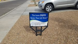 San Tan Water Solutions Sign in front yard